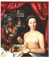 Cuadro de texto:    Diana di Poitiers nel ruolo  di Diana Cazadora,  con le sue dame.